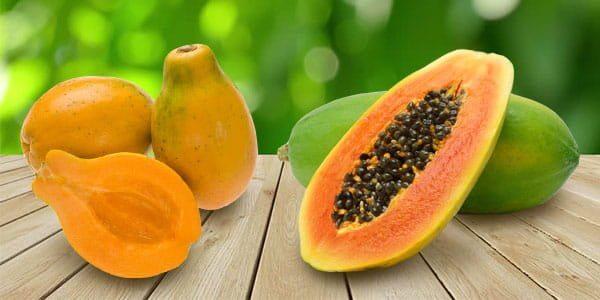 гавайская и мексиканская папайя