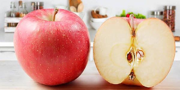 Яблоки фиджи в разрезе