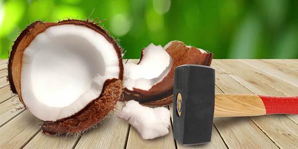 Открыть кокос дома