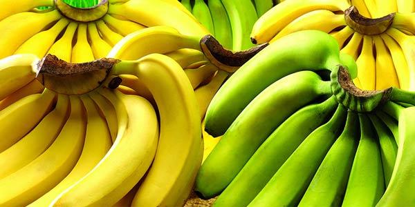 зелёные жёлтые бананы