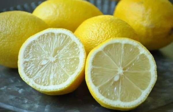 лимон на разрезе