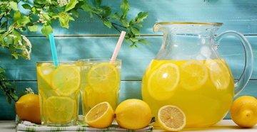 лимон с водой