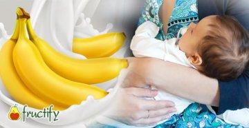Ребёнок-бананы-молоко