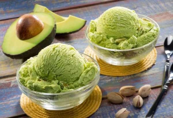 мороженое с авокадо