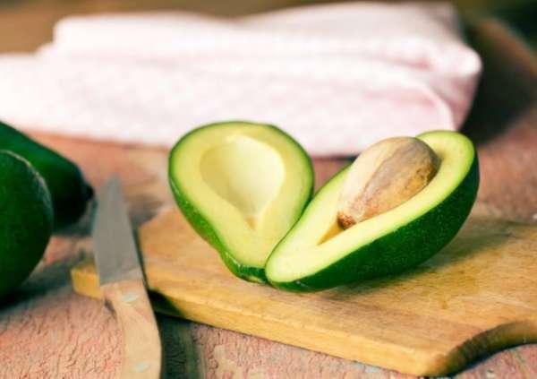 авокадо на разрезе