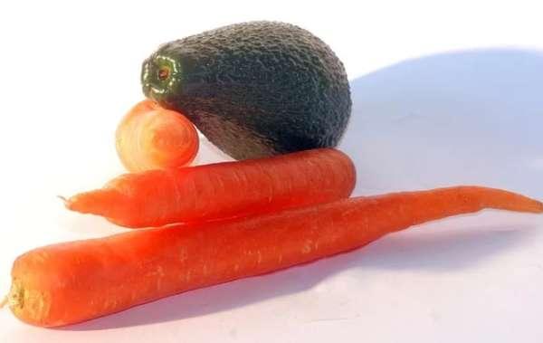 авокадо и морковь