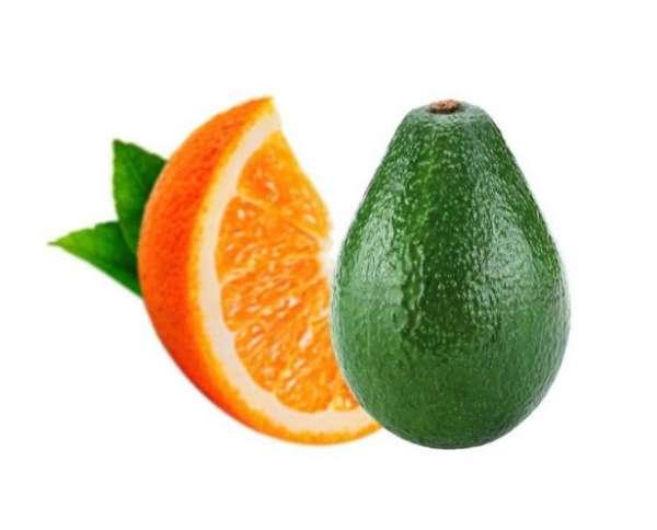 авокадо и апельсин